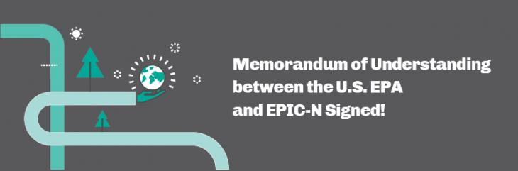 Memorandum of Understanding between the U.S. Environmental Protection Agency and EPIC-N Signed!